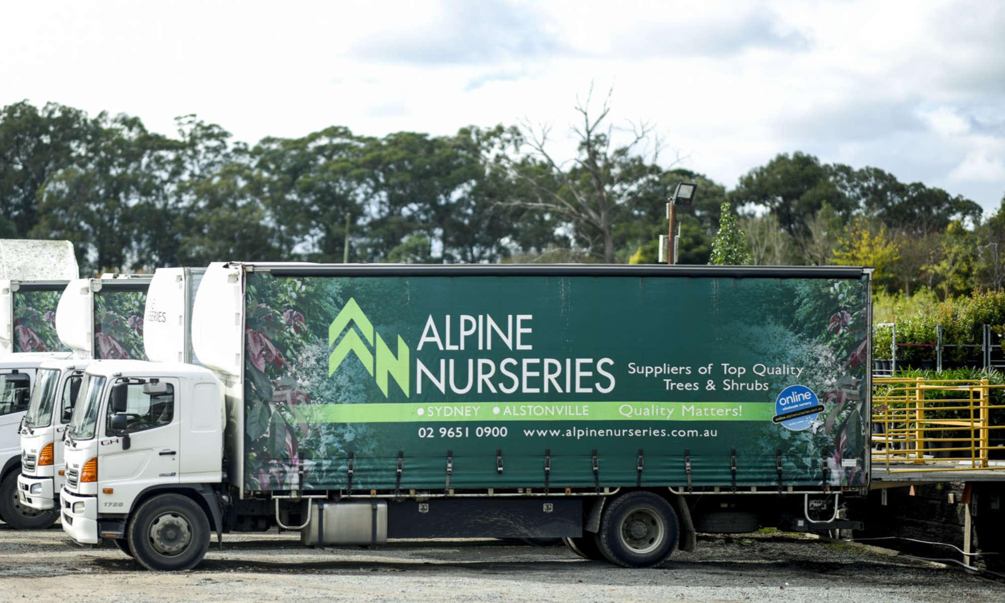 Alpine Nurseries Trucks
